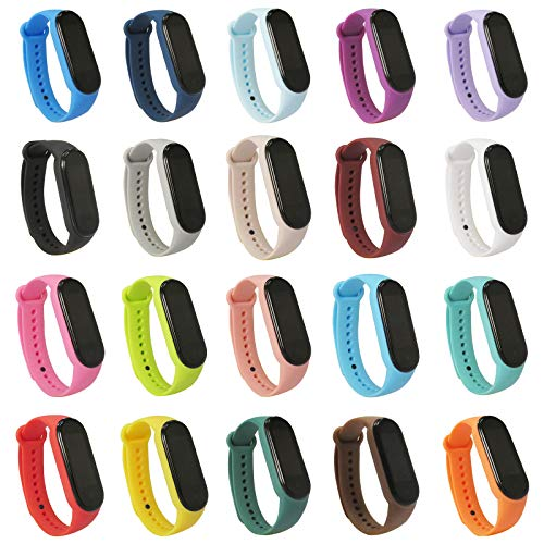 FatcatBand kompatibel mit Xiaomi Mi Band 5 Armband, Color Sport Fitness Ersatzband Uhrenarmban Wasserdicht Ersatz Soft Armbänder für Xiaomi Mi Band 5 Smart Watch Damen Herren