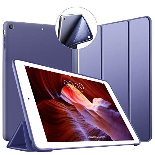 VAGHVEO Coque pour iPad Air Ultra-Mince et léger Etui Housse Smart Case [Veille/Réveil Automatique] avec Silicone TPU Souple Cover pour Apple iPad Air 1 (modèles A1474 A1475 A1476), Bleu Marin