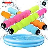 4 Pack Foam Water Blaster, Water Guns Shooter Squirt Guns Set UP to 35 ft Shooting Range with Inflatable Pool , Pump Foam Water Super Blasters Soaker for Water Fighting Party Kids Adults