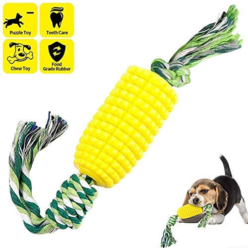 Namvo Cepillo de dientes para perros Masticar Juguetes de Mascota Palo Molar de Maíz Resistente a las mordeduras de Limpieza de Cachorro Cuidado Dental Cepillo Stick con Cuerda