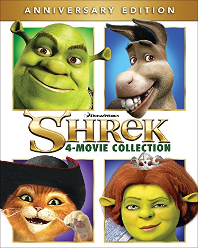 Shrek 4-Movie Anniversary Edition Collection (Blu-Ray) $14.99 via Amazon
