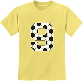 Tstars - Soccer Fan 9th Birthday Gift for 9 Year Old Youth Kids T-Shirt