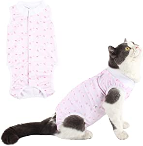 Due Felice Cat Surgical Recovery Suit Small Dog Onesies Puppy Protective Bodysuit Pets Shirt for Abdominal Wounds Skin Diseases After Surgery Wear E-Collar Alternative