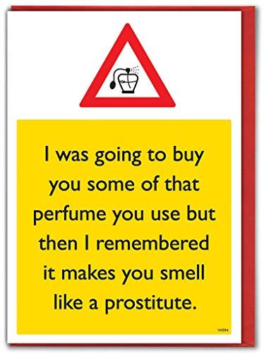 """Geburtstagskarte """"Prostitute Parfüm"""""""