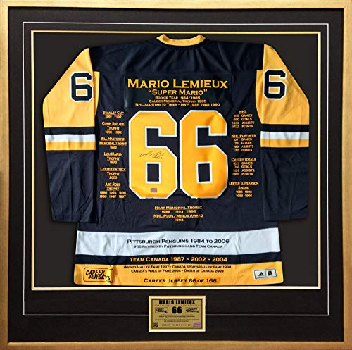 Mario Lemieux Career Jersey #66 of 166 - Autographed - Pittsburgh Penguins