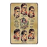 WE Barber Shop Vintage Cartel de Chapa Placa de Metal Decoración Placa Cartel Cafe Bar Store Decoración para el hogar de Pared 20x30cm 3739