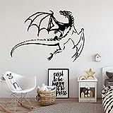 Juego Flying Dragon Wings Monster Animal Mythical beast Etiqueta de la pared Vinilo Art Decal Boy Kids Nursery Dormitorio Sala de estar Playroom Club Home Decor Mural