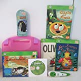 Leap Frog Tag Group of 4 Books ,1 Reader Pen ,1 National Geographic Kids Activity Card Set All in a TAG Carry Case