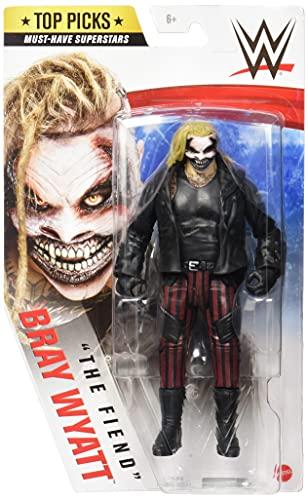 WWE Figura Bray Wyatt 'El Demonio', muñeco articulado de juguete con cazadora (Mattel GTG70)