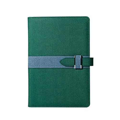 XXT Espesar Simple Cuaderno Estudio Exquisito portátil Bloc de Notas de Office Diary (Color : Green-a, Size : 15 * 22cm)