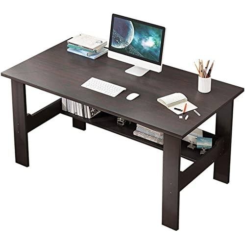 Mlide Office Desk Simple Two Story Computer Desk Wood Writing Desk Computer Table For Home Office 39 4x17 7x28 3 Inch Black Kitchen Dining Amazon Com