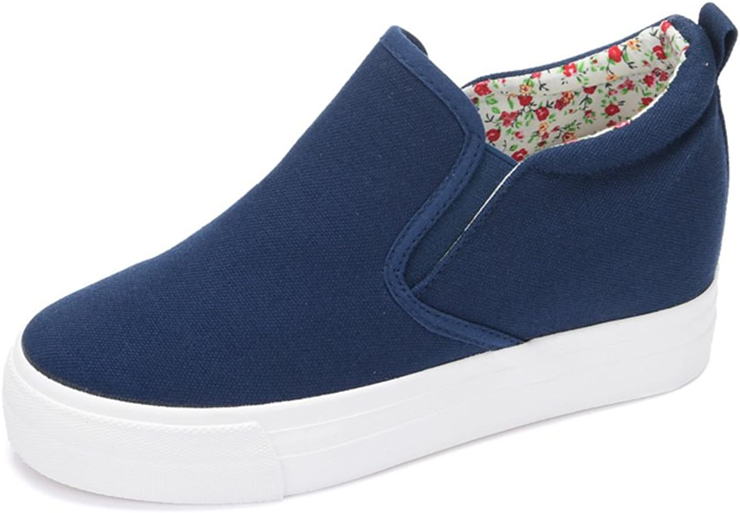 Increased within the canvas shoes in summer and autumn thick crust Foot muffin Ms. casual shoes Carrefour