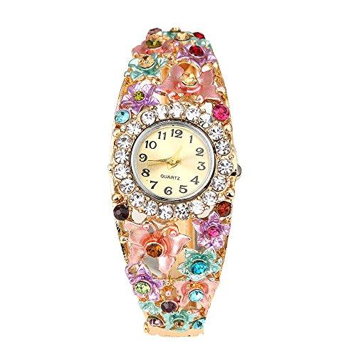 Suberde strass donna fiore farfalla orologio da polso–multicolore