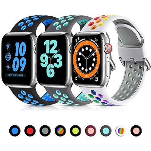 Lerobo 3 Pack Bands Compatible with Apple Watch Bands 38mm 40mm 42mm...