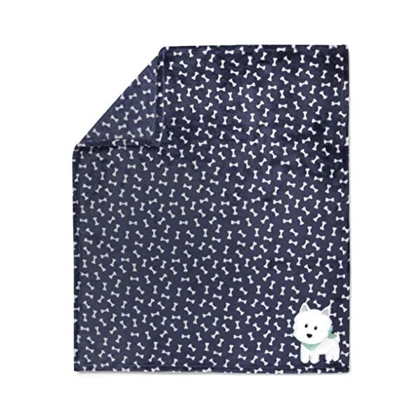 Baby Essentials Plush Fleece Throw and Receiving Baby Blankets for Boys and Girls (Fluffy Puppy)