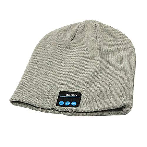 Injoyo Bluetooth Beanie Gorro Auriculares Inalámbricos Sombrero Caliente de Punto con Manual...
