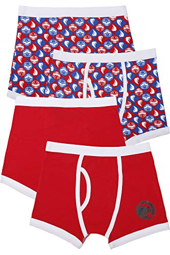 Power Ranger Boys' Big Red Ranger Underwear 2 Pack, Multi, 8