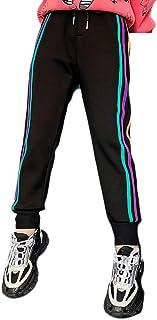 DaiHan Pantalones Deportivos Termicos Niñas Pantalones de Jogging Cómodo Sport de Cintura Elástica Con Cordón Pantalone Ap...