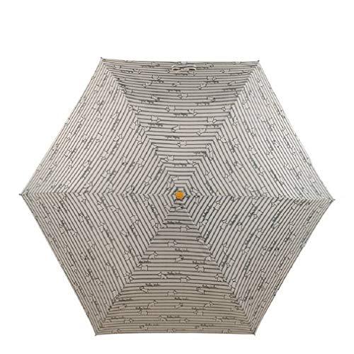 Radley Paraplu in krijtstreep ontwerp met Radley hondenprint