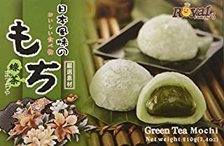 3 X Royal Family Japanese Green Tea Mochi - 7.4 Oz / 210g Pack of 3