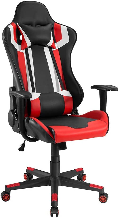 Ergonomic Racing Style Gaming Black Chair Red SEAL Ranking TOP18 limited product