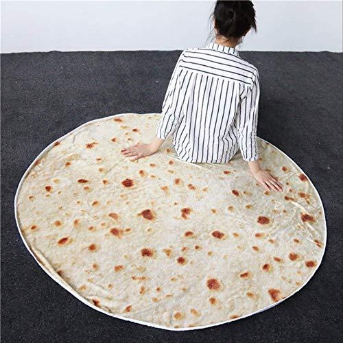 YMKXXB Decke Bettwäsche Outlet Decke 3D Mais Tortilla Flanell Decke Für Bett Werfen Lustige Tagesdecke Diameter180Cm Burritos-3