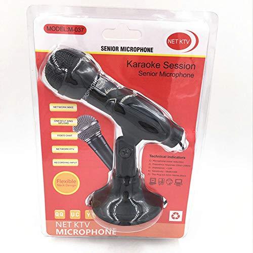Rode tij DM-HD38 3.5Mm Computer Microfoon met Basis, Desktop Handheld K Song Chat DC3.5 Kleine Microfoon
