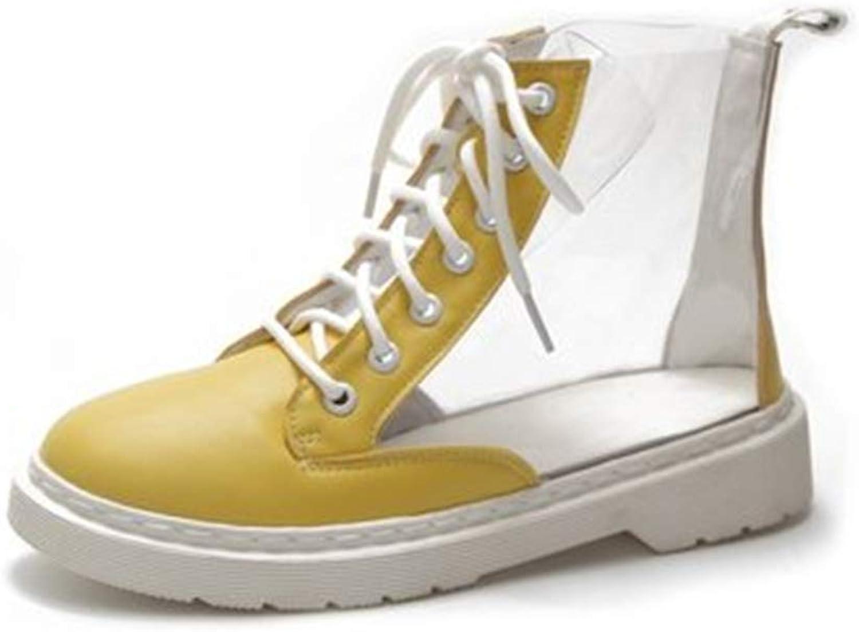 Gusha Women's Short Boots Classic Casual shoes Elegant Flat Martin Boots