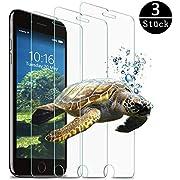 Alexia Tout Panzerglas Schutzfolie für iPhone 6/iPhone7/iPhone8, HD Displayschutzfolie/Panzerfolie, Tempered Glas Schutzglas, Handy Folie 3D Hartglas, Screen Protector Glass [3 Stück].