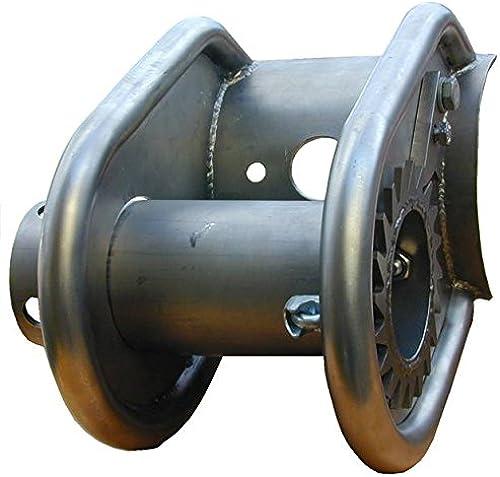 b+t RT1243 SeilSpaßner für Seilbahn   für Rundholz  80mm  mit Zahnrad   aus V2A