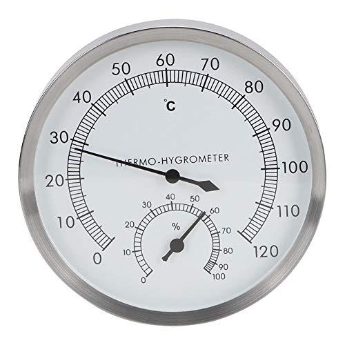TOPINCN 2-In-1Wood Thermo-Hygrometer Thermometer Hygrometer Dampfbad Sauna Fahrenheit Zubehör MEHRWEG VERPACKUNG
