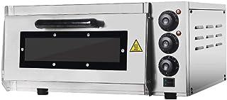 KAUTO Four à pizza électrique commercial, 2000 W, pierre de cuisson au Royaume-Uni, température : 50 ~ 350 ℃, pour pizza 1...
