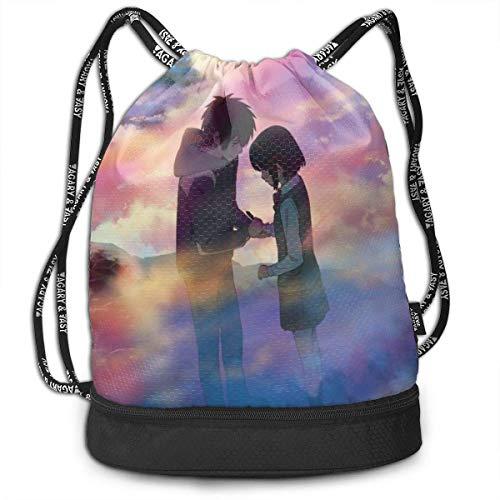 Your Name Drstring Bags Multifunction Bundle Bapa Large Capacity Lightweight Simple Portable Funny Handbag,for Women Kids School Gym Travel (Polyester)