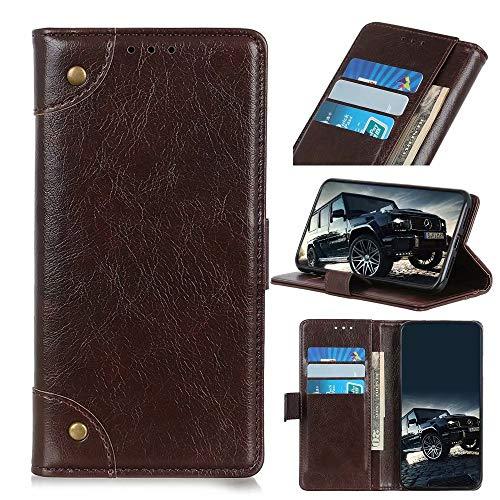 FullProtecter Hülle Kompatibel mit Wiko Jerry4/Y70 Handy Hülle,Hülle Leder Handytasche für Wiko Jerry4/Y70 Klapphülle Tasche, Kaffee