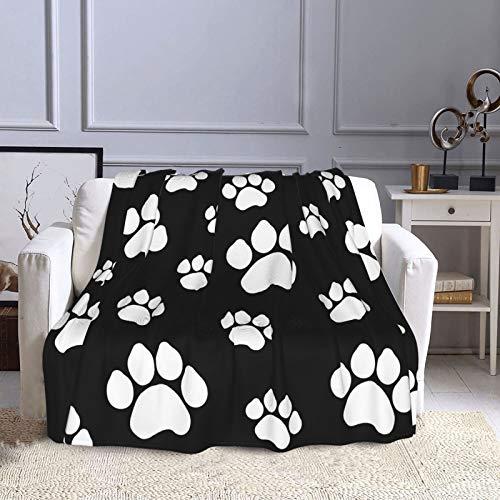 KCOUU Manta de forro polar de 50 × 60 pulgadas, color negro, grande, acogedora y cálida manta decorativa para sofá, cama, sofá, viajes, hogar, oficina, uso en todas las estaciones