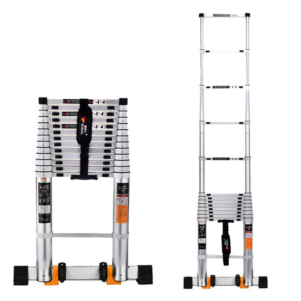 Jian E-// Escalera telescópica escalonada - Aleación de aluminio plegable taburete telescópica estable estable - 6 tamaños //- (Talla : Straight ladder - 4.1m): Amazon.es: Bricolaje y herramientas