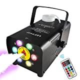 5. Leftgif Halloween Fog Machine, 6 LED Lights 12 Colors Effect 2000 CFM,500W Wireless Remote Control Smoke Machine With Fuse Protection For Party Wedding Stage Effect Club Bar Photography