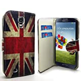 Accessory Master - Funda tipo libro para Samsung Galaxy S3 i9300 (piel, tarjetero), diseño de bandera de Reino Unido