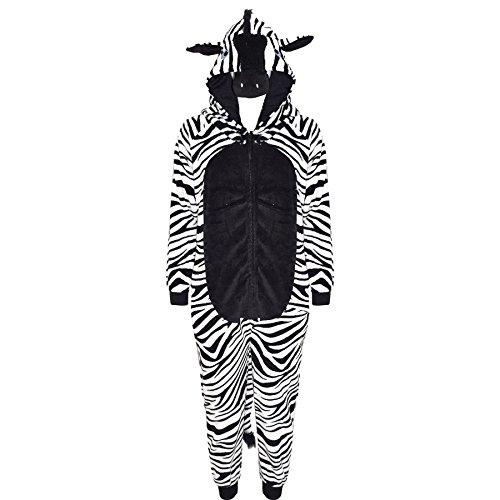 A2Z 4 Kids® Kinder Mädchen Jungen Strampelanzug Extra Weich Flaumig - E.Soft Zebra 7-8