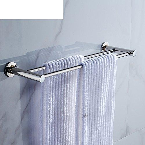 Edelstahl Handtuch Regal Bad/[Doppelstange Handtuchhalter]/Wei Handtuch aufhängen/Tuch/Bad Handtuchhalter/Pol-A