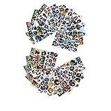 Amandakasa 防水ビニールステッカー 漫画 アニメ ア ステッカーノート パソコン ヘルメットギター ステ ッカー シール スーツケース ステッカー 24枚セット 411PCS