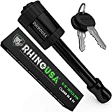 Rhino USA Trailer Hitch Lock - Patent Pending 5/8' Locking Receiver Pin for Class III IV Hitches - Weatherproof Anti-Theft Lockable Pin with Dust, Mud & Gunk Protection - Used to Tow Truck, Boat, Bike