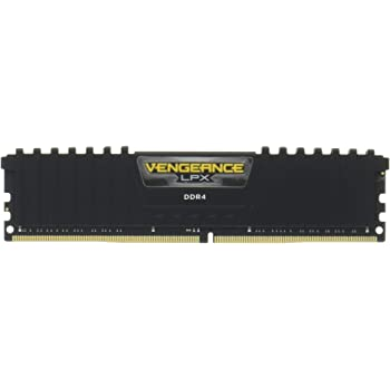 Corsair CMK32GX4M2A2666C16 Vengeance LPX 32GB (2x16GB) DDR4 DRAM 2666MHz (PC4-21300) C16 Memory Kit - Black