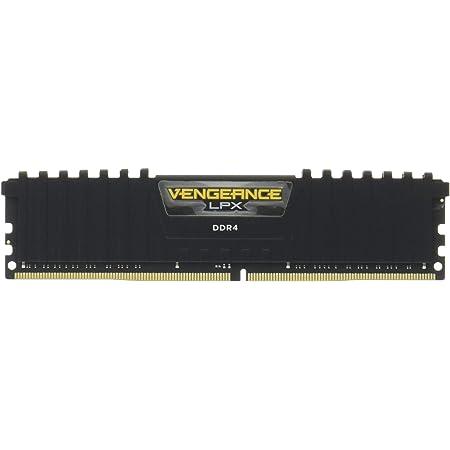 CORSAIR DDR4 デスクトップPC用 メモリモジュール VENGEANCE LPX Series ブラック 16GB×2枚キット CMK32GX4M2A2666C16