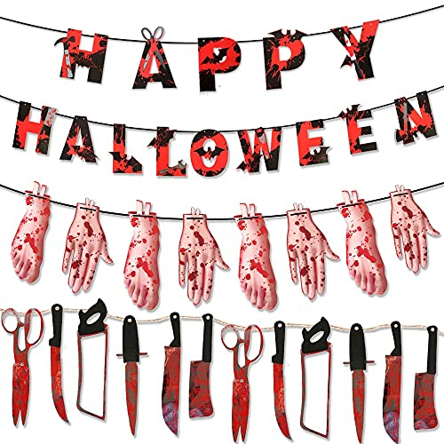Decoración De Temporada Guirnaldas Luminosas De Interior Decorados para Fiestas Pegatinas para Niños Luces Halloween Adornos Navidad(Laqi 14 + 8 Partes del Cuerpo + 12 Armas)