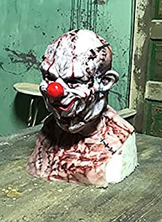Realistic Professional Silicone Power Mesh Mask With Tear Away Zombie Clown Face