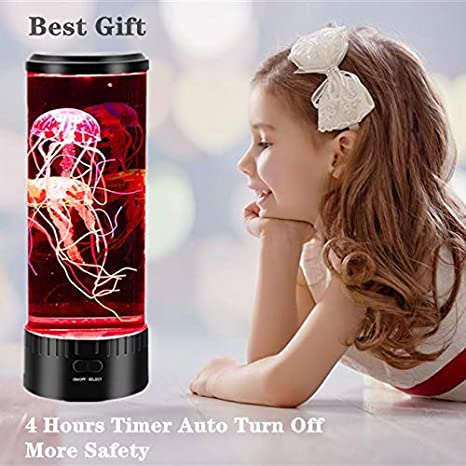 USB Powered Round Jelly Fish Aquariums Tank Night Mood Lamp Ideal Gift Jellyfish Aquarium with Color Changing Light Effects LUOWAN Led Jellyfish Lamp