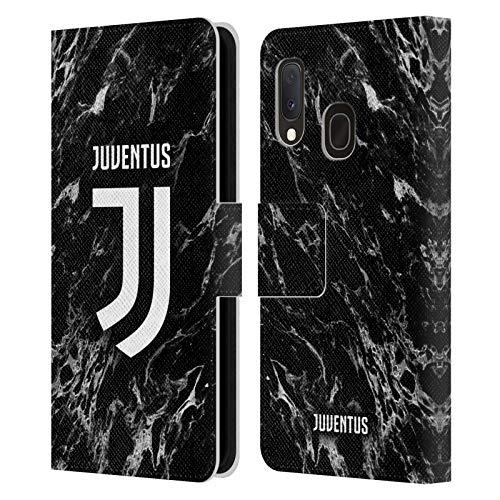 Head Case Designs Ufficiale Juventus Football Club Nero 2017/18 Marmoreo Cover in Pelle a Portafoglio Compatibile con Samsung Galaxy A20e (2019)