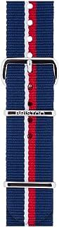 Briston - Bracelet Type NATO - Rayé Bleu Marine Rouge Blanc