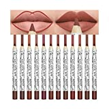 Pretty Comy Pretty Comy Pretty Comy Lip Liner Long Lasting Matte Waterproof Lipstick Pen Combination Set of 12 color